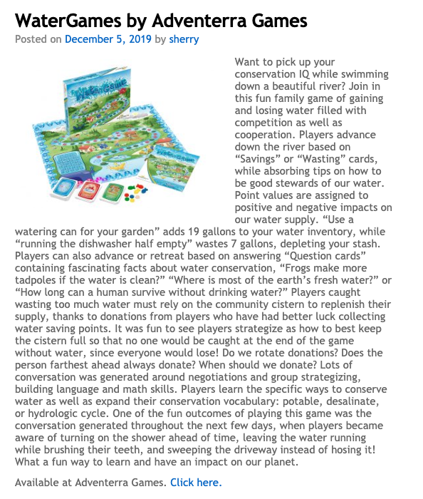 WaterGame by Adventerra Games North America is a 2019 PAL Award winner!