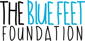 The brothers started The Blue Feet Foundation with the help of their father, Peter, and began selling blue socks online.